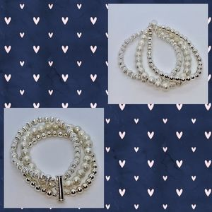 Silver 3 Strand Bracelet